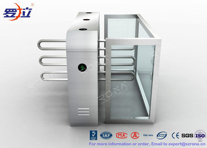 Fingerprint Reader Waist Height Turnstiles Stainless Steel Turnstyle Gate For Access Control