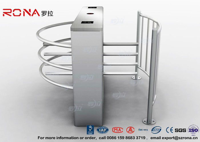 DC 24V Brush Motor Waist High Turnstile , Automatic Systems Turnstiles CE Approved
