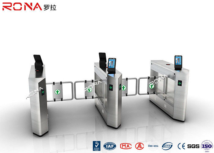 Face Recognition Speed Gate Turnstile Access Control System 30 Persons / Min