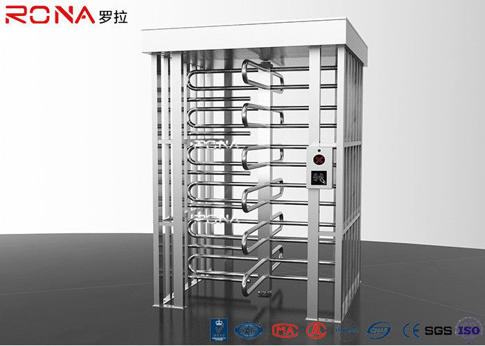 Automatic Safety Biometric Stainless Steel Turnstiles Full Height Bi - Directional Arm