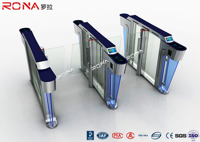 Security Swing Speed Gate Turnstile 304 Stainless Steel Materials Mechanical Structure