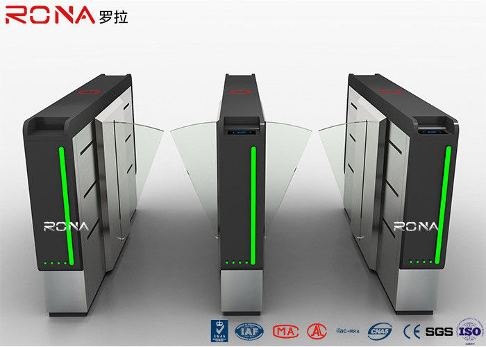 Acrylic Flap Barrier Gate Fingerprint Rfid Card Reader Security Turnstile