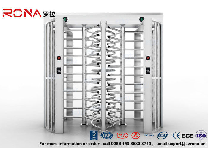 Robust Full Height Turnstile Access Control Barrier Gate Anti Fingerprints Surface