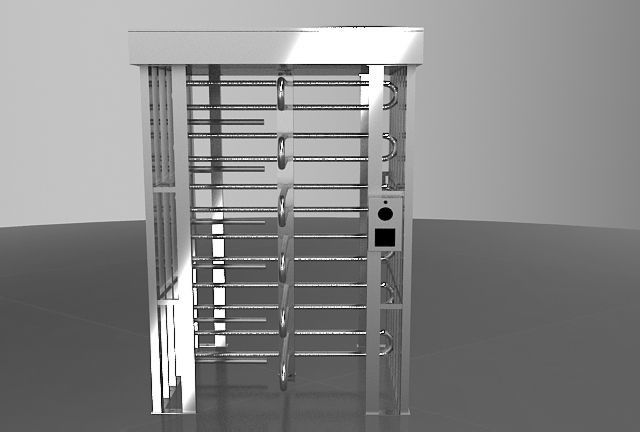 Durable Full Height Turnstile Single Lane 30 Persons / Minute With CE Approval