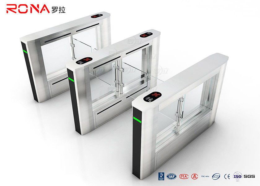 Office Building RFID Swing Gate Turnstile Glass Gate For Access Control System