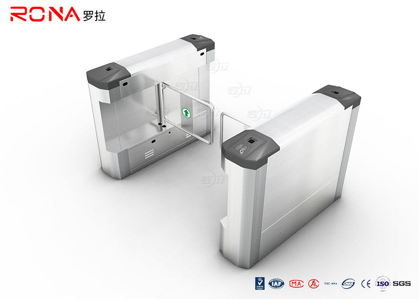 Access Control Swing Gate Turnstile 304 Stainless Steel With DC Brush Motor